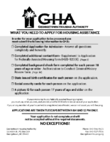 GHA Housing Assistance Application